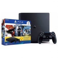 Ігрова консоль SONY PlayStation 4 Slim 500 Gb Black (GodofWar3+Uncharted4+HorizonZeroDown+PSPlus 3М)