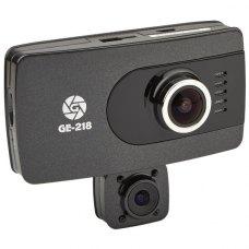 Відеореєстратор Globex GE-218 (2 камери, основна 1920х1080,135°, поворотна 1280х720, 270°, 3, 60 кадр/с, microSD до 32Gb,, AVI)