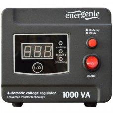 Стабілізатор 1000Вт, EnerGenie (EG-AVR-D1000-01), металевий. корпус, чорний, 3,3кг