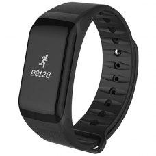 Фітнес-браслет F1 (Blood oxygen/pressure monitor, Pulse, Call reminder, IP67, Pedometer 、Calories、Distance) (Black)