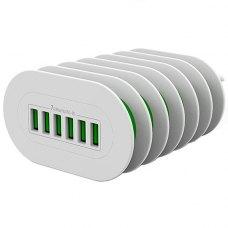 Мережевий зарядний пристрій ColorWay 6X USB 7 А White (CW-CHS07AW)