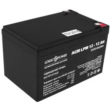 Акумулятор LogicPower AGM LPM 12V 12Ah (LP6550)