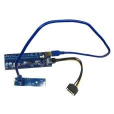 Райзер-адаптер Dynamode NGFF M.2 Male to USB 3.0 Female для PCI-E 1X (RX-riser-M.2-USB3.0-PCI-E)