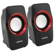 Акустична система 2.0 Greenwave SA-602 Black/Red