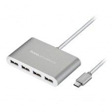 USB HUB HOCO HB3 Type-C (silver)