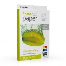 Папір ColorWay A4 (ПСГ115-50) (PGS1158050A4) 115/80 г/м2, 50 аркушів, глянець, самоклейка