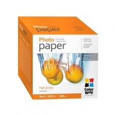 Папір ColorWay 10x15 (PG2005004R) 200 г/м2, 500 аркушів, глянець, водостійкий, картонна упаковка