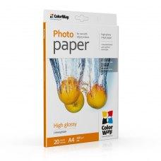 Папір ColorWay A4 (PG200020A4) 200 г/м2, 20 аркушів, глянець, водостійкий, картонна упаковка
