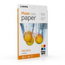 Папір ColorWay A4 (ПГ180-20) 180 г/м2, 20 аркушів, глянець