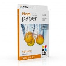 Папір ColorWay A4 (ПГ180-50) (PG180050A4) 180 г/м2, 50 аркушів, глянець