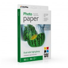 Папір ColorWay A4 (ПГД220-50) 220 г/м2, 50 аркушів, глянець, двостороння