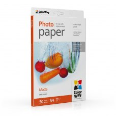 Папір ColorWay A4 (ПМ190-50) 190 г/м2, 50 аркушів, матовий