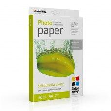 Папір ColorWay A4 (ПСГ135-50) (PGS1358050A4) 135/80 г, 50 арк., глянець, самоклейка