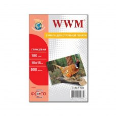 Папір WWM 10x15 (G180.F500) 180 г/м2, 500 аркушів, глянець