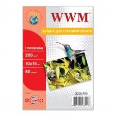 Папір WWM 10x15 (G200.F50) 200 г/м2, 50 аркушів, глянець