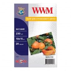 Папір WWM 10x15 (M230.F20) 230 г/м2, 20 аркушів, матовий