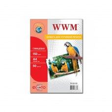 Папір WWM A4 (G150.50) 150 г/м2, 50 аркушів, глянець