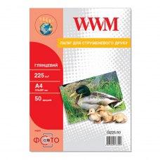 Папір WWM A4 (G225.50) 225 г/м2, 50 аркушів, глянець