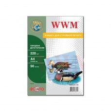 Папір WWM A4 (GD220.50) 210 г/м2, 50 аркушів, глянець, двосторонній