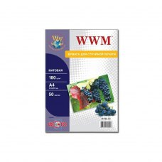 Папір WWM A4 (M180.50) 180 г/м2, 50 аркушів, матовий