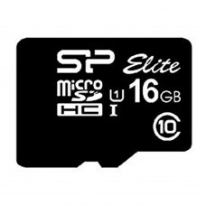 microSDHC карта 16Gb Silicon Power Elite class10 без адаптера UHS-1 (SP016GbSTHBU1V10)