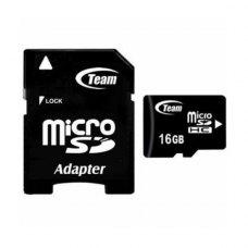 microSDHC карта, 16 Гбайт, class 10, з SD адаптером Team (TUSDH16GCL1003)