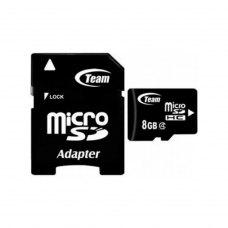 microSDHC карта 8Gb Team class4 з SD адаптером (TTUSDH8GCL403)