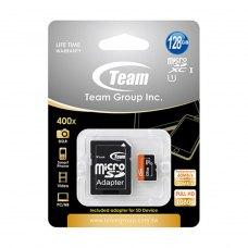 microSDXC карта 128Gb Team class10 з SD адаптером UHS-I (TUSDX128GUHS03)