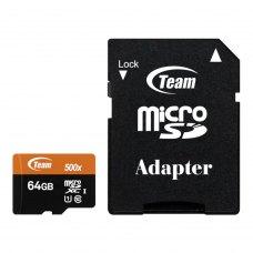 microSDXC карта 64Gb Team class10 з SD адаптером UHS-1 Xtreem (TUSDX64GUHS03)
