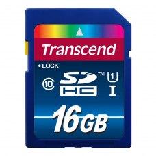 SDHC карта 16Gb Transcend class10 UHS-I Premium (TS16GSDU1)