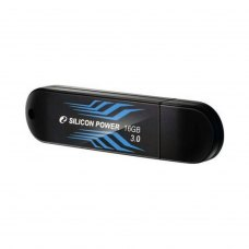 USB флеш 16Gb Silicon Power Blaze B10 Black Blue (SP016GbUF3B10V1B) пластик чорний з синім USB 3.0