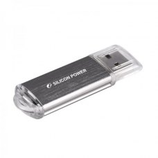 USB флеш, 8 Гбайт, Silicon Power Ultima II Silver (SP008GBUF2M01V1S), срібло, метал, USB 2.0