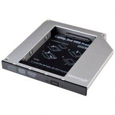 Адаптер підключення HDD 2.5'' у відсік приводу 126 х 127 x 12 мм ноутбука SATA3, Grand-X (HDC-27)
