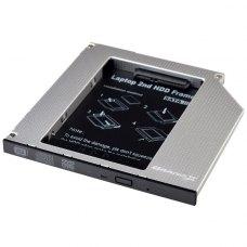 Адаптер підключення HDD 2.5'' у відсік приводу 126 х 127 x 9.5 мм ноутбука SATA3 Slim 9.5 мм, Grand-X (HDC-26)