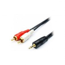 Аудіо-кабель Atcom (10710) miniJack 3.5mm (папа) to 2RCA-тюльпан (папа), 750см