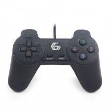 Геймпад Gembird Gaming JPD-UB-01 USB Black, 10 кнопок, 4-позиційний D-Pad, Blister
