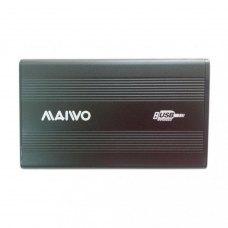 Зовнішня кишеня 2,5, Maiwo (K2501A-U2S black), SATA, USB2.0 на винтах алюм. черн.