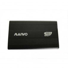 Зовнішня кишеня 2,5, Maiwo (K2501A-U3S black), SATA, USB3.0 на винтах алюм. черн.