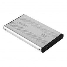 Зовнішня кишеня 2,5, Maiwo (K2501A-U3S silver), SATA, USB3.0 на винтах алюм. серебр.