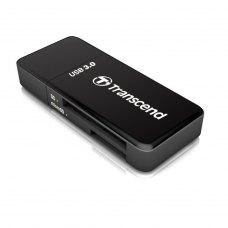 Зчитувач флеш-карт зовнішній, Transcend (TS-RDF5K), SD/microSD, чорний, USB 3.0