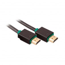 Кабель HDMI (папа) to HDMI (папа), 500см, Prolink (PB348-0500), v1.4, золотисті конектори, чорний, блістер, 5м