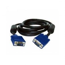Кабель VGA (папа) to VGA (папа), 300см, Atcom (DE-15Hd-3m), з 2-ма феритами, чорний, пакет, 3м