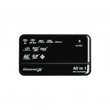 Картрідер зовнішній, Grand-X multi All-in-One 64Gb to 2Tb SDXC (CRX05Black), чорний, USB 2.0
