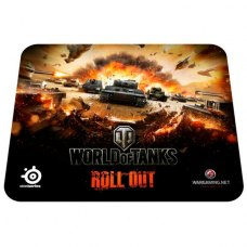 Килимок, SteelSeries QcK World of Tanks Tiger Edition (67272) чорний з малюнком World of Tanks Tiger, 370х270х2мм