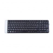 Клавіатура бездротова, Logitech K230 RUS Black радіо (920-003348), стандартна, 101 клавіш, USB-нано Unifying, RTL