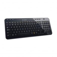 Клавіатура бездротова, Logitech K360 RUS Black радіо (920-003095), мультимедійна, 110+6дод. клавіш, 2xAA, USB-нано Unifying, чорний, RTL