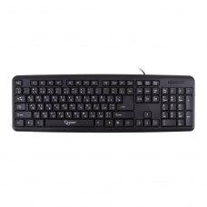 Клавіатура дротова, Gembird KB-U-103-UA USB Black, стандартна, ножнична Ukr розкладка 104 клавіш,