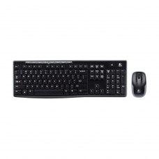 Комплект бездротовий (клавіатура+мишка), Logitech MK270 Black радіо (920-004518), USB-нано, Black, RTL