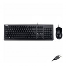 Комплект дротовий (клавіатура+мишка), ASUS U2000 USB Black, (90-XB1000KM00050) чорний