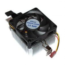 Кулер до CPU 80мм, AMD, ATcool AMS70-125AB Atcom (10601), s-AM2/s-AM3/s-FM1/s-FM2, HB, 1600об/хв, 1xFAN 80мм, 3-pin, алюмінієвий радіатор
